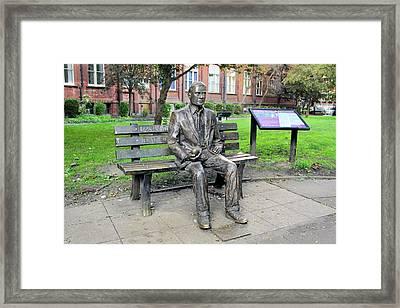Statue Of Alan Turing Framed Print by Martin Bond