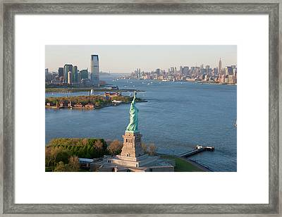 Statue Of Liberty, New York, Usa Framed Print