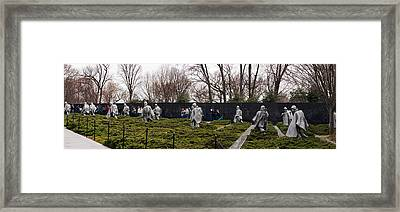 Statues Of Soldiers At A War Memorial Framed Print by Panoramic Images