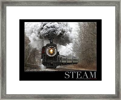 Steam At Elmhurst Framed Print by Daniel Troy