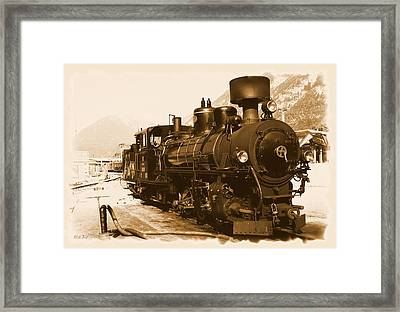 Steam Locomotive Framed Print by Ha Ko