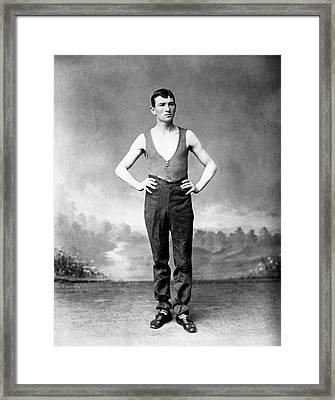 Steve Brodie (c1863-c1901) Framed Print
