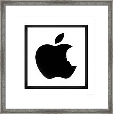 Steve Jobs Apple Framed Print by Rob Hans