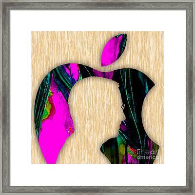 Steve Jobs Art Framed Print by Marvin Blaine