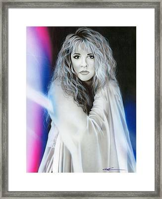 ' Stevie Nicks ' Framed Print by Christian Chapman Art
