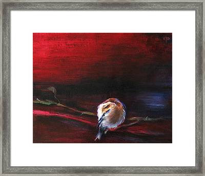Still Life - Original Painting. Part Of A Diptych Framed Print by Tanya Byrd