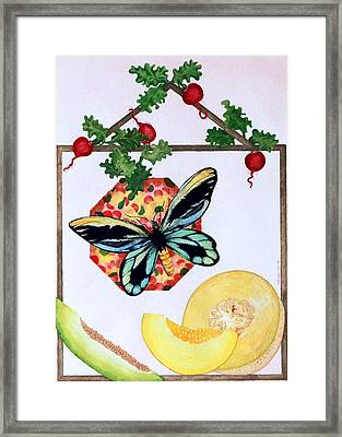 Still Life With Moth #3 Framed Print by Thomas Gronowski