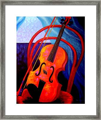 Still Life With Violin Framed Print by John  Nolan
