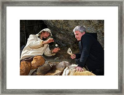 Stone Age Toy Reconstruction Framed Print
