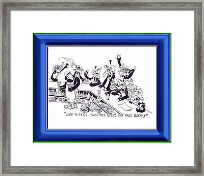 Stone The Crows Framed Print by BAT Watego