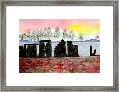 Stonehenge Framed Print by Roy Hyslop