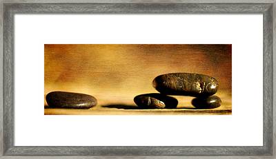 Stones On Canvas Framed Print by Tommytechno Sweden
