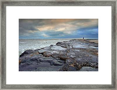Storm Blowing Out Framed Print