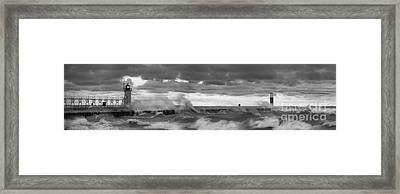 Storms At South Haven Framed Print by Twenty Two North Photography