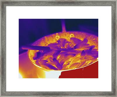 Stovetop, Thermogram Framed Print by Science Stock Photography