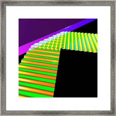 Straight Wave Reflection Framed Print