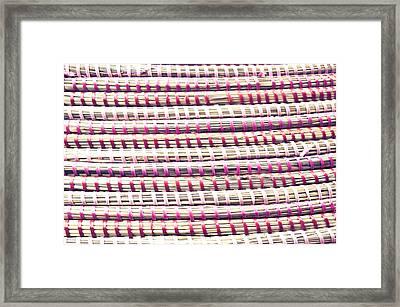 Straw Fibre Background Framed Print