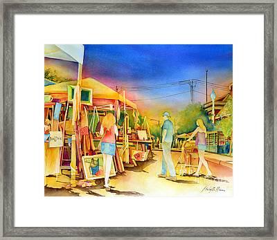Street Art Fair Framed Print