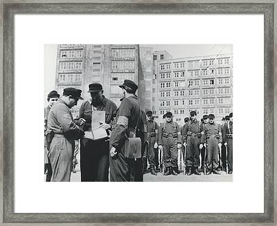 Street Fights In East Berlin Framed Print by Retro Images Archive