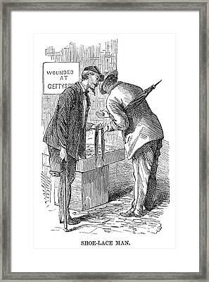 Street Peddler, 1868 Framed Print by Granger