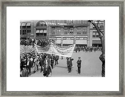 Streetcar Strike, C1915 Framed Print by Granger