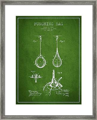 Striking Bag Patent Drawing From1891 Framed Print