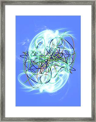 String Theory Framed Print by Victor Habbick Visions/science Photo Library