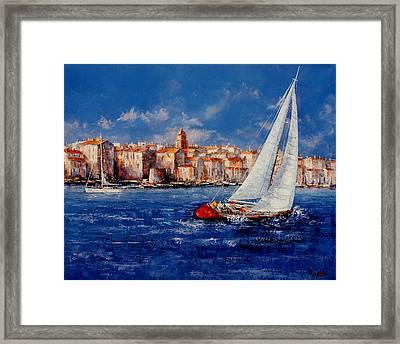 St.tropez - France Framed Print by Miroslav Stojkovic - Miro