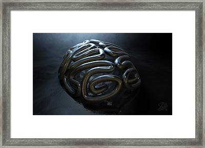 Stylized Thought Statue Framed Print by Allan Swart