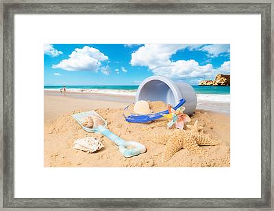 Summer Beach Framed Print