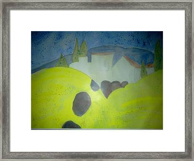 Summer In Syria Framed Print by Karen Jensen