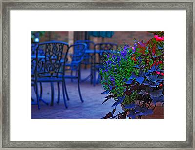 Summer Patio Framed Print