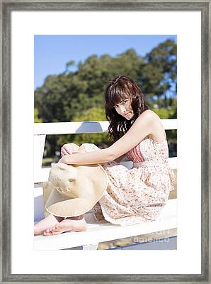 Summer Relaxation Framed Print