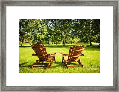 Summer Relaxing Framed Print