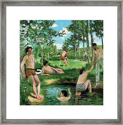 Summer Scene  Framed Print by Frederic Bazille