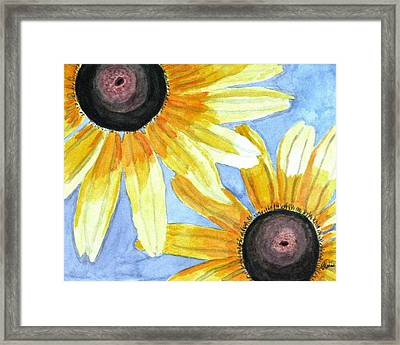 Summer Susans Framed Print by Angela Davies