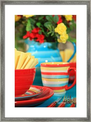 Summer Table Setting Framed Print
