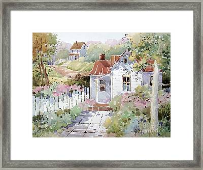 Summer Time Cottage Framed Print