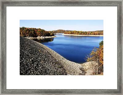 Summersville Lake Autumn Framed Print by Thomas R Fletcher