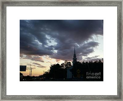 Framed Print featuring the photograph Sun Down Time by Rose Wang