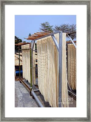 Sun Dried Noodles In Taiwan Framed Print by Yali Shi