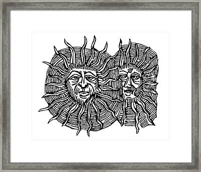 Sun Face, Decorative Framed Print by Granger