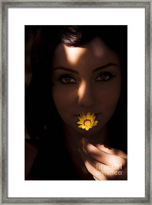 Sun Flower Framed Print