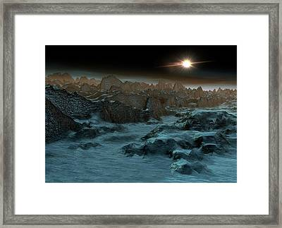 Sun Shining In Space Framed Print by Victor Habbick Visions
