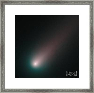 Sungrazing Comet Ison, C2012 S1 Framed Print by Science Source