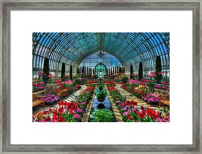 Sunken Garden Como Conservatory Framed Print