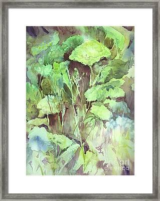 Sunlit Garden Framed Print