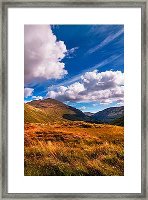 Sunny Day At Rest And Be Thankful. Scotland Framed Print