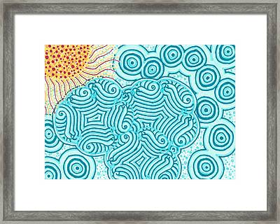 Framed Print featuring the drawing Sunny Day by Jill Lenzmeier