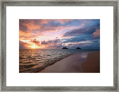 Sunrise At Lanikai Beach  Kailua Framed Print by Tomas del Amo